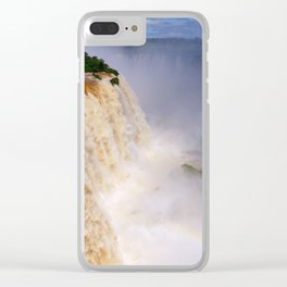 Aerial view of a majestic and powerful waterfall Clear iPhone Case