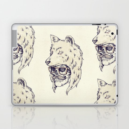 WOLF HAT Laptop & iPad Skin