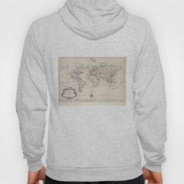 Vintage Map of The World (1750) Hoody