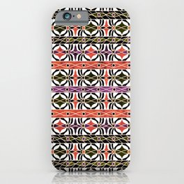 Ethnic striped pattern. iPhone Case