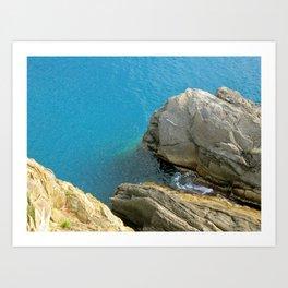 Mediterranean Coast Cinque Terre, Italy Art Print