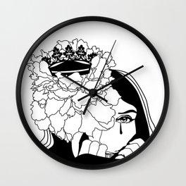 Drama Queen winter flower Wall Clock