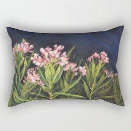 Oleander_Oil on wood Rectangular Pillow