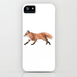 Unique Illustration Of A Fox For Animal Lovers And Owners T-shirt Design Animals Lobo Hyena Sit iPhone Case