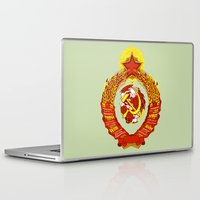 soviet Laptop & iPad Skins featuring  STATE OF THE EMBLEM OF THE  SOVIET UNION  by Sofia Youshi