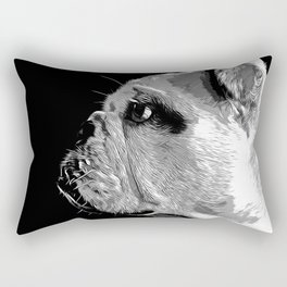 english bulldog dog vector art black white Rectangular Pillow