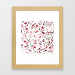 pomegranates Framed Art Print