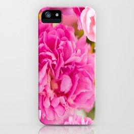Large Pink Peony Flowers #decor #society6 #buyart iPhone Case