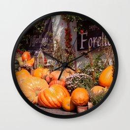 The pumpkin Wall Clock