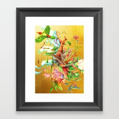 生まれサークル Umare Circle Framed Art Print