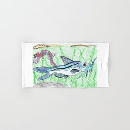 Mexican Blue Catfish Hand & Bath Towel