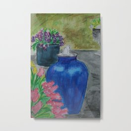 Eileen's Fountain WC151209a-04 Metal Print