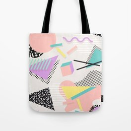 80s / 90s RETRO ABSTRACT PASTEL SHAPE PATTERN Tote Bag