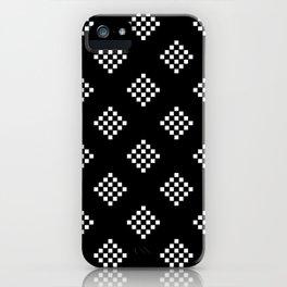 Black Diamond Squares  iPhone Case