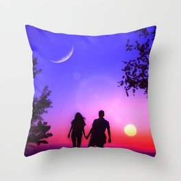 The Lovers (VI) Throw Pillow