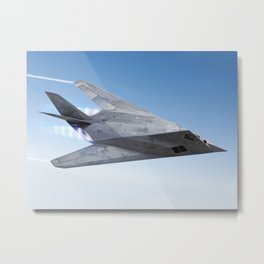 Stealth aircraft F-117 Metal Print