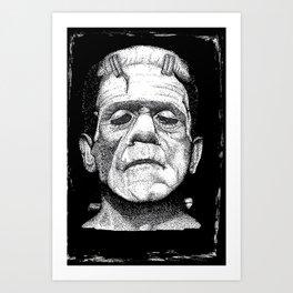 Frankensteins Monster Art Print