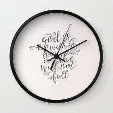SHE WILL NOT FALL Wall Clock