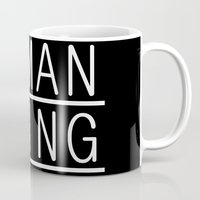 human Mugs featuring Human by PsychoBudgie