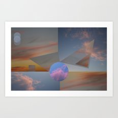 Clouds•triangles and circles cutting the skies!• ⁄ ⁄photography ƒrøm beløw!• Art Print