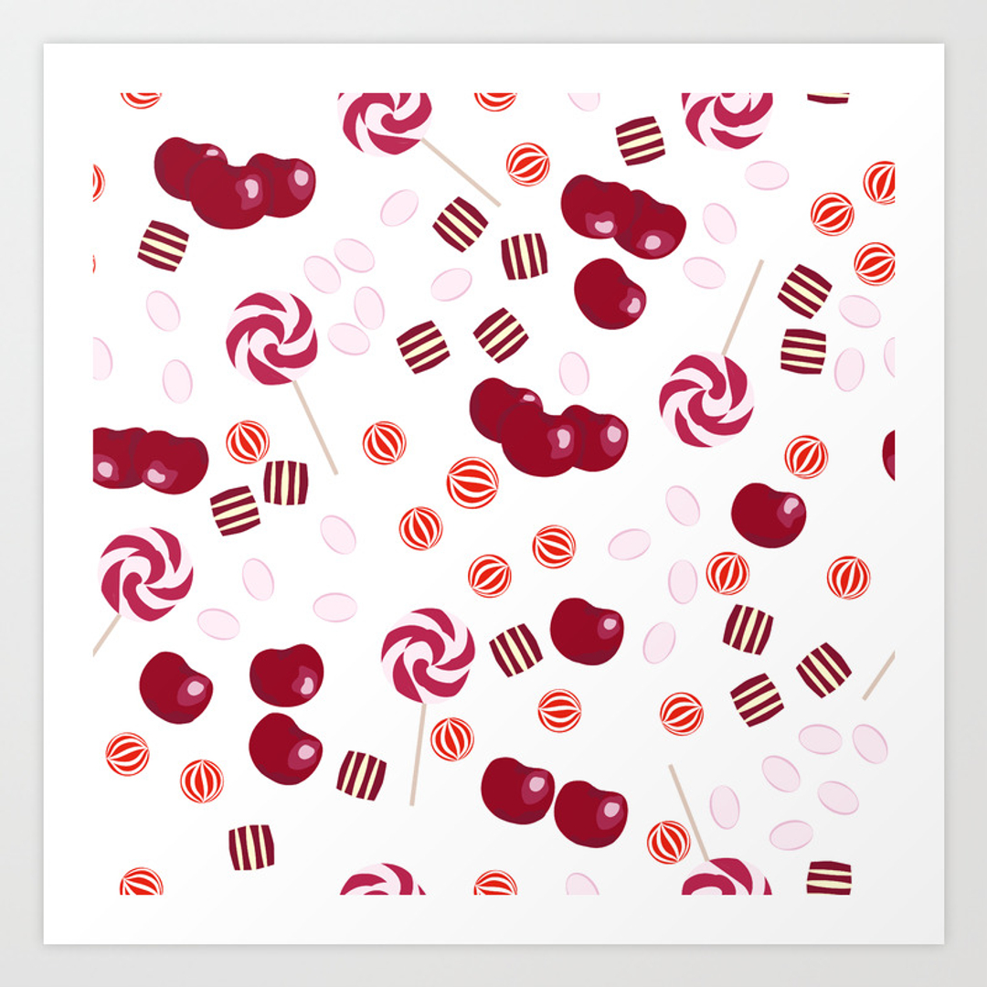 lollipops art prints society6