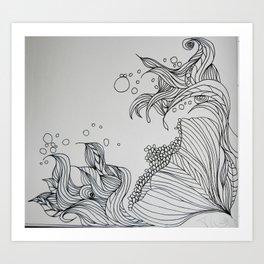 Illustrated Flower Art Print