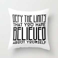 Defy Your Own Limits Throw Pillow
