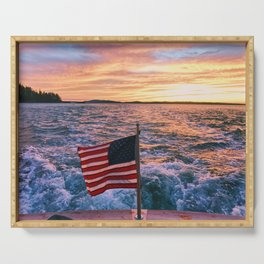 Maine Sunset Serving Tray
