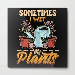 Funny Garden Gardener Women Gift Metal Print