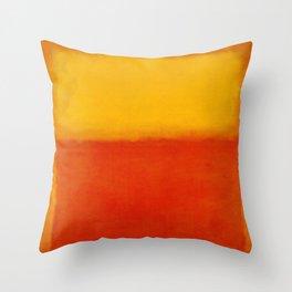 1956 Orange and Yellow by Mark Rothko HD Throw Pillow