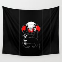 dracula Wall Tapestries featuring Dracula by JoJo Seames