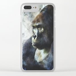 Thinking of Bananas Clear iPhone Case