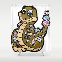 DIAMONDBACK RATTLE SNAKE Viper Cobra rattlesnake Shower Curtain