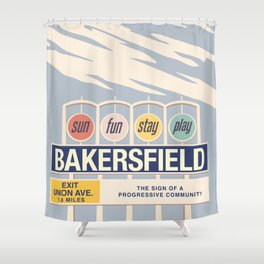 Sun, Fun, Stay, Play: Classic Shower Curtain
