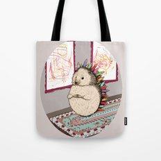Hedgehog Artist Tote Bag