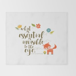 What is essential is invisible to the eye. The Fox. Throw Blanket