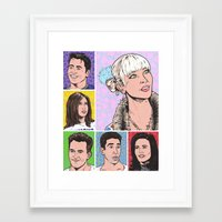 friends tv Framed Art Prints featuring friends by turddemon