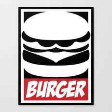 Obey Burger Canvas Print