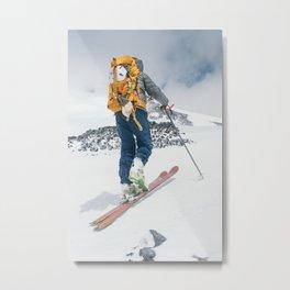 ski to the summit Metal Print