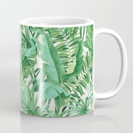 Green tropical leaves III Coffee Mug