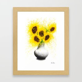 Sunflower Song Framed Art Print