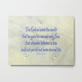 John 3:16 Dogwood Metal Print