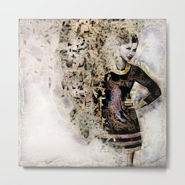 She works hard for the money. Metal Print