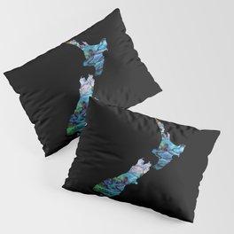 NEW ZEALAND MAP SIMPLE PAUA Pillow Sham