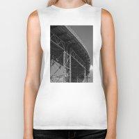bridge Biker Tanks featuring Bridge by Christophe Chiozzi