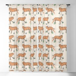 Tiger Beige Sheer Curtain