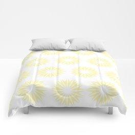 Cream Modern Sunbursts Comforters