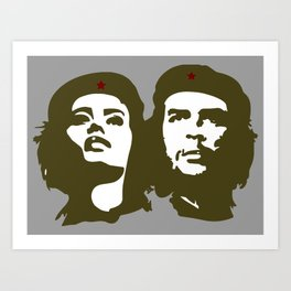 Che Guevara and the woman he loved Art Print