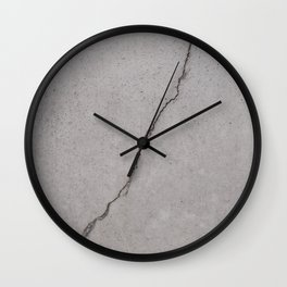 cracked concrete texture - cement stone Wall Clock