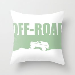A trail or trails rock crawling off-road design Throw Pillow